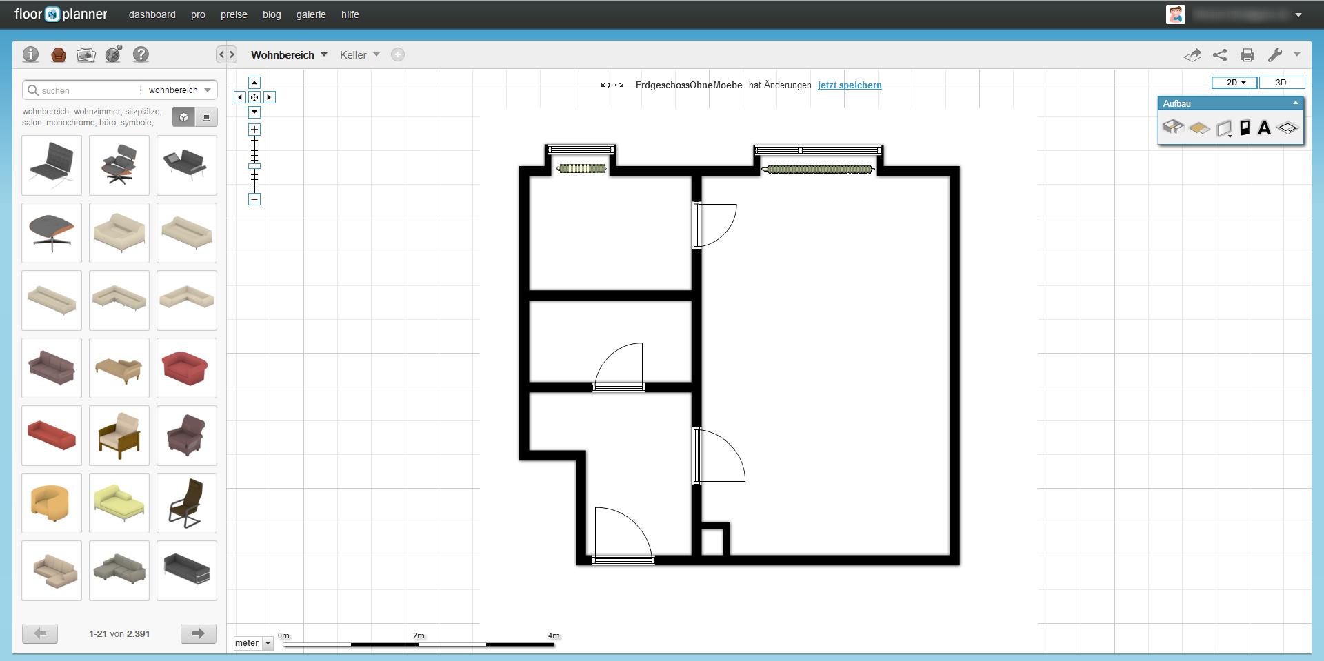 5 kostenlose m glichkeiten einen grundriss zu erstellen 1 5. Black Bedroom Furniture Sets. Home Design Ideas