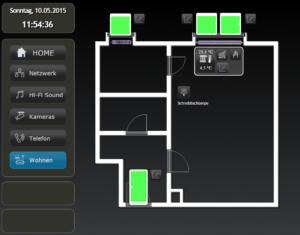 Grundirss im WebUI (DashUI) mit verbauten Funk-Modulen