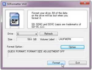 Mit SDFormatter bereitest Du Deine SD-Karte vor